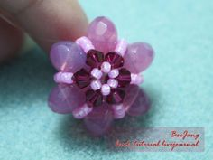 bead_tutorial: [Tutorial] Flower Motif #5 Bead Jewellery, Diy Jewelry, Jewelry Making, Rose Petal Beads, Beaded Christmas Ornaments, Earring Tutorial, Beaded Jewelry Patterns, Beading Tutorials, Bead Weaving