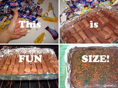 """Cakespy: Mega Fun-Size Bar. Honestly, what is """"fun"""" about fun-size """"as is""""?"""