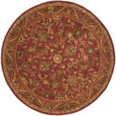 Shop for Safavieh Handmade Heirloom Red Wool Rug (8' Round). Get free shipping at Overstock.com - Your Online Home Decor Outlet Store! Get 5% in rewards with Club O!