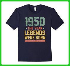 Mens 67th Birthday T-Shirt 1950 The Year Legends Were Born Small Navy - Birthday shirts (*Amazon Partner-Link)