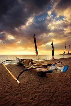 Fisherman boat by Photograph Fadi Basymeleh, Senggigi Beach Lombok Indonesia