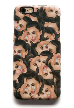 KIMOJI CRY FACE COLLAGE IPHONE CASE