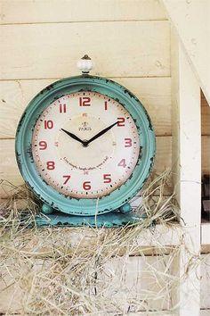 Industrial Aqua Clock