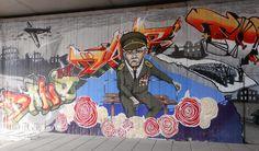 Viajar e descobrir: Pintura mural