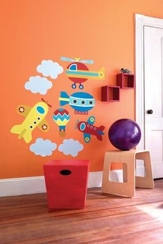 Up Up and Away Wallpaper Mural by Wallies Kids