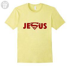 Mens I Need love Super Jesus Funny Christian T-shirt 2XL Lemon - Funny shirts (*Amazon Partner-Link)