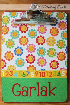 Katie's Nesting Spot: A Clipboard for Teacher: Holiday Gift Idea