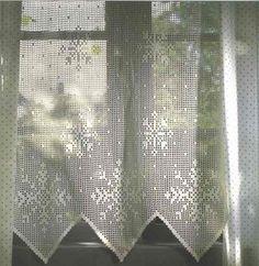 Needle-Works Butterfly: Several Filet Crochet Curtains - w. Crochet Curtain Pattern, Crochet Snowflake Pattern, Crochet Curtains, Crochet Snowflakes, Curtain Patterns, Lace Curtains, Crochet Doilies, Crochet Patterns, Blanket Patterns