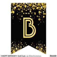 Diy Birthday Lawn Signs, Happy Birthday Signs, Alphabet Wallpaper, Banner Letters, Gold Confetti, Bold Typography, Bunting Banner, Flag Design, Carrie
