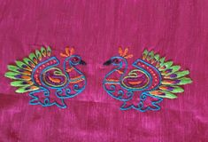 Embroidery Neck Designs, Hand Embroidery Videos, Indian Embroidery, Kutch Work Designs, Peacocks, Blouse Designs, Stitches, Blouses, Sewing