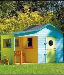 Cabane en bois coloré pour enfant