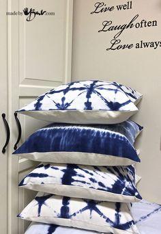 Απλοποιημένη βαφή Shibori - Made by Barb 4 απλά σχέδια για να κάνετε μερικά μαξιλάρια