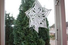 een kerstster maken van papier