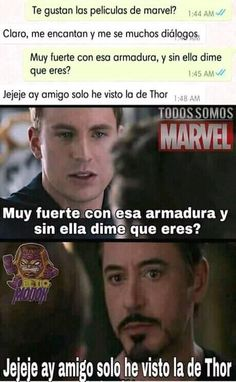 Read from the story Memes de Marvel by MssMarvel (Ana) with reads. Memes Marvel, Avengers Memes, Marvel Funny, Marvel Dc Comics, Marvel Avengers, Geeks, Best Memes, Funny Memes, Infinity War Memes