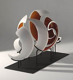 Marcus Dillon Heliospherical blown, cut, sandblasted glass