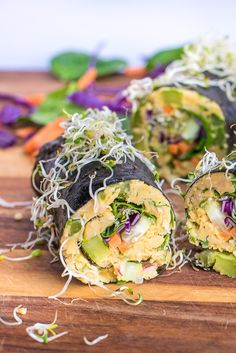 Chickpea Tuna Nori Wraps