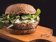 Hambúrguer vegetariano do Sailor Burgers & Beers (Foto: Marília Jacobson)