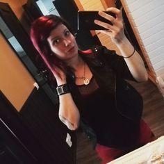 Instagram photo by @la_ra91 (Laura Rekonen)   Iconosquare Baby Belly, Red Black, Bodycon Dress, Watches, Tattoos, Instagram, Dresses, Fashion, Vestidos