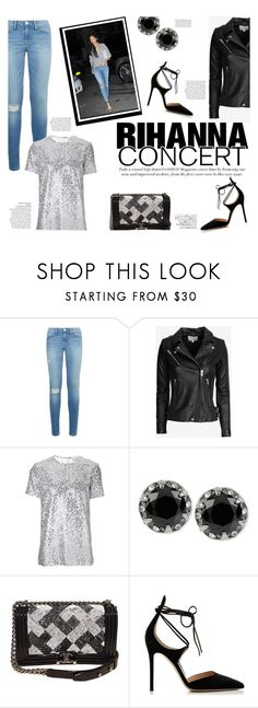 """Hot Ticket: Rihanna Concert"" by katsin90 ❤ liked on Polyvore featuring Frame, IRO, Nina Ricci, Betsey Johnson, Chanel, Gianvito Rossi, Avenue and Rihanna"
