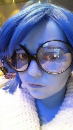 So, I tried cosplaying Inside-Out's Sadness. I think I nailed it! - 9GAG