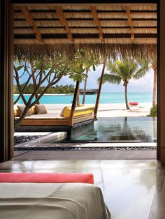 Beach villa with private pool at One & Only Reethi Rah Resort, Maldives Vacation Destinations, Dream Vacations, Vacation Spots, Vacation Travel, Beach Resorts, Hotels And Resorts, Oh The Places You'll Go, Places To Travel, Beautiful World