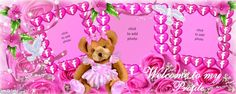 Welcome Pink Teddy Timeline