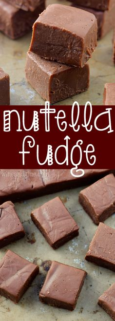 This Nutella Fudge is a SUPER fast recipe that your friends and family will ask for again and again!::