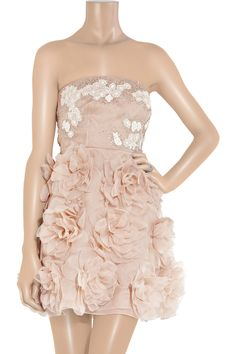 Valentino Embellished Strapless Dress front