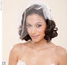 Wedding Veil Styles You'll Love: The Cage Veil Veil Hairstyles, Wedding Hairstyles With Veil, Short Wedding Hair, Wedding Veils, Hairstyle Wedding, Hairstyle Ideas, Bridal Beauty, Wedding Beauty, Bridal Hair