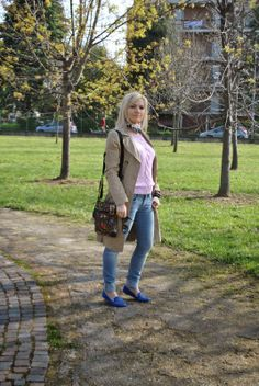 Color-Block By FelyM.: TRENCH COAT, SLIPPERS AND SKINNY JEANS