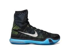 The Nike Kobe 10 Elite High Black Volt Blue release is a brand new Nike Kobe 10 Elite Team with Historia Est Magistra Vitae on the tongue for a life lesson.