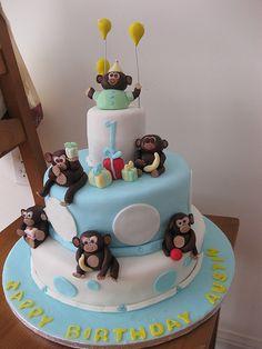 baby boy first birthday | Baby Boy 1st Birthday Monkey cake! | Flickr - Photo Sharing!