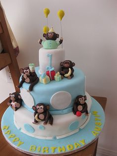baby boy first birthday | Baby Boy 1st Birthday Monkey cake! | Flickr - Photo Sharing!