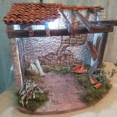 17 Best images about pesebres on Nativity House, Diy Nativity, Christmas Manger, Christmas Nativity Scene, Nativity Scenes, Handmade Christmas, Christmas Crafts, Ceiling Treatments, Miniature Crafts