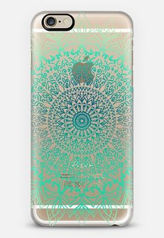 TEAL BOHO MANDALA iPhone 6 case by Nika Martinez | Casetify
