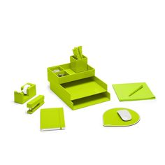 Poppin Lime Green Dream Desk Set | Desk Accessories | Cool Office Supplies  #workhappy