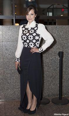 Magalie Lépine-Blondeau en Éditions de robes   Prix Gémeaux 2013 #modeMtl