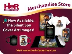 Cover art from Nancy Drew: The Silent Spy is now available in the Her Interactive merchandise store!