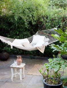 Hangmat Life is a Hammock Outdoor Retreat, Outdoor Spaces, Outdoor Living, Outdoor Decor, Outdoor Ideas, Porch And Terrace, Pergola, Hammock Swing, Hammock Ideas