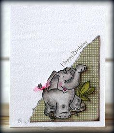 TLC374 CAS167 Baby Elephant Walk by Biggan - Cards and Paper Crafts at Splitcoaststampers, Alota rubberstamp!