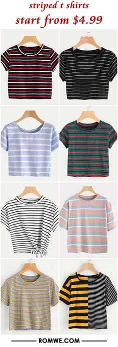 striped t shirts from $4.99