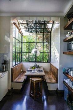 Top 50 Best Breakfast Nook Ideas - Kitchen Gathering Spots Home Decor Kitchen, Kitchen Nook, Kitchen Ideas, Teal Kitchen, Kitchen Tables, Kitchen Layout, Kitchen Inspiration, Kitchen Designs, Diy Kitchen