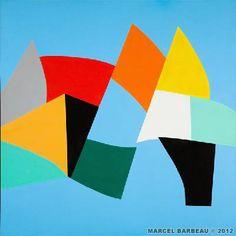 Marcel Barbeau - Juillet tranché dans le fruit : Acrylique sur toile de lin - 2007 Marcel Barbeau, Art Moderne, Oeuvre D'art, Les Oeuvres, Contemporary Art, Fruit, Artwork, Beautiful, Abstract