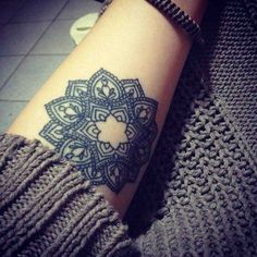 my sister wants a mandala tattoo like this! I'm secretly jealous she thought of it first