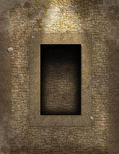 Battlemap - Fosse dans le caveau du roi - Accès vers les catacombes où se trouve le roi squelette