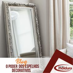 Você sabe usar os espelhos ao seu favor? Grande, Oversized Mirror, Home Decor, Mirror Border, Decorative Mirrors, Converse, Decorating Tips, Moldings, Environment
