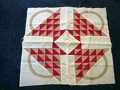 ANTIQUE EARLY 1900s RED & BEIGE BASKET QUILT TOP ESTATE, eBay, goddesstoo