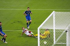 Mario Götze scores the winning goal for Germany in the 2014 World Cup verse Argentina.