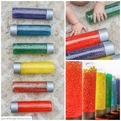When it comes to sensory play, water beads are probably one of my kid's favorites. It is amazing to watch just how creative they can get with them, and this sensory material is absolutely versatile. Sensory Rooms, Sensory Activities, Sensory Play, Activities For Kids, Sensory Tubs, Autism Activities, Motor Activities, Infant Activities, Bead Bottle