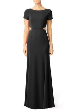 Rent Black Cut Twirl Gown by Slate & Willow for $55 - $75 only at Rent the Runway.